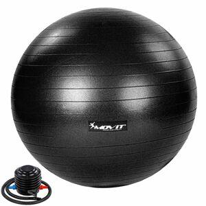 MOVIT Gymnastický míč s nožní pumpou, 55 cm, černý