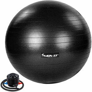 MOVIT Gymnastický míč s nožní pumpou, 85 cm, černý