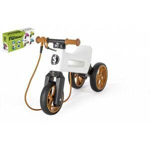 Teddies FUNNY WHEELS Rider SuperSport bílé 2v1+popruh 28/30cm