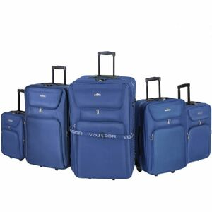 Sada cestovních kufrů na kolečkách, 5-dílná, modrá