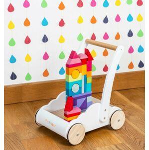 Hračka Le Toy Van Petilou vozík s duhovými kostkami