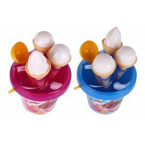 Teddies Sada na písek kbelík formičky zmrzlina Modrá