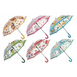 Deštník 66 cm vystřelovací 6 barev v sáčku