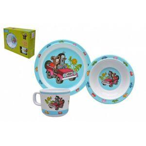 Dětské nádobí sada Krtek plast 3 ks v krabici 31 x 23 x 8 cm