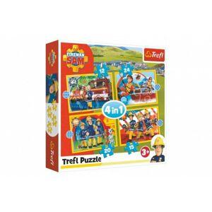 Puzzle 4v1 Ochotný Požárník Sam v krabici 28 x 28 x 6 cm