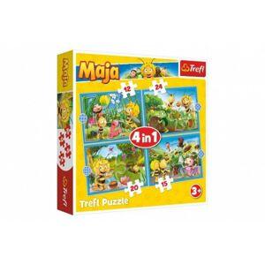 Puzzle 4v1 Dobrodružství Včelky Máji v krabici