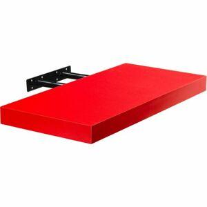 Stilista nástěnná police Volato, 60 cm, červená