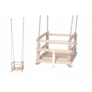 Dřevěná houpačka, nosnost 80 kg, 6m+