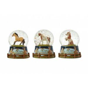 Sněhová koule/Těžítko kůň 7cm 3 druhy v krabičce 11x13x11cm