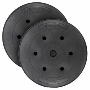 MAXXIVA Sada závaží 2 x 15 kg, cement, černá