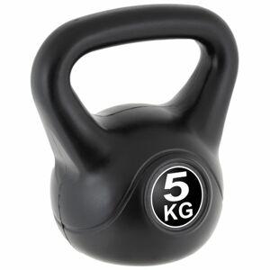 MAXXIVA Kettlebell činka, černá, 5 kg
