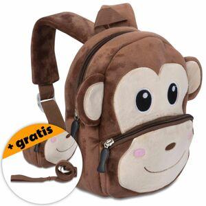 Batoh pro děti, samet, opička, 20 x 20 x 12 cm