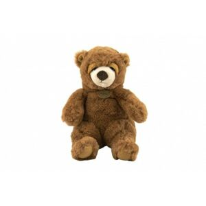 Medvěd sedící hnědý plyš 16x24x20cm 0+