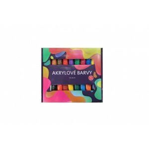 Akrylové barvy 18x36ml v krabičce 30x27x3cm