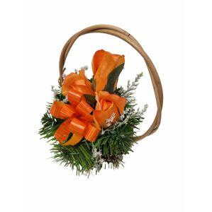 Květinový košík malé velikosti, oranžová