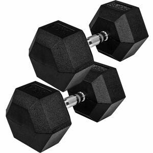 MOVIT Šestihranná gumová činka 27,5 kg, sada 2 kusů