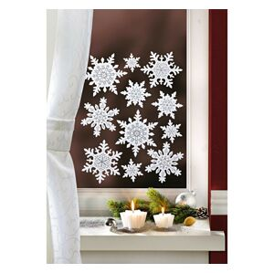 """Magnet 3Pagen 11dílný obrázek na okno """"Sněhové vločky"""""""