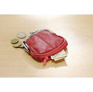 Magnet 3Pagen Kožená peněženka, červená