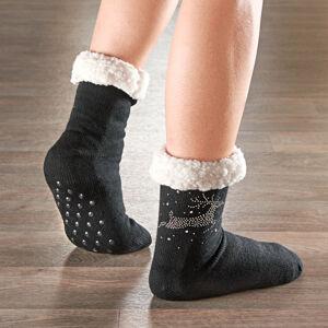 Magnet 3Pagen 1 pár vánočních ponožek s nopky černá