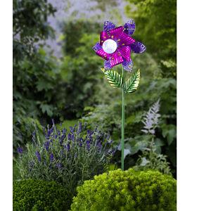 """Magnet 3Pagen Solární větrník """"Květ"""" purpurová"""