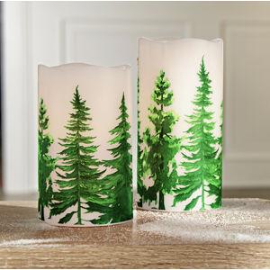 """Magnet 3Pagen LED svíčka """"Zimní les"""" výška 12,5cm"""