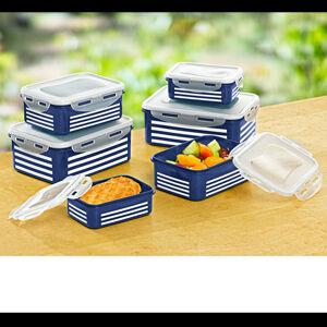 Magnet 3Pagen 12-dílná sada dóz pro zachování čerstvosti modrá-bílá 12ks