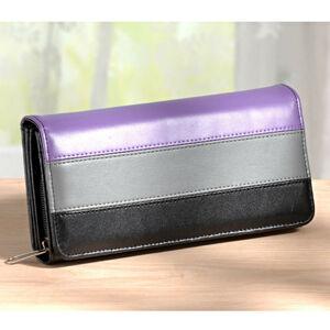"""Magnet 3Pagen Dlouhá peněženka """"3 barvy"""" fialová-šedá-černá"""