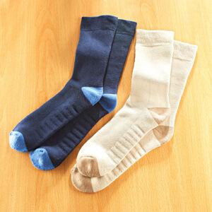 Magnet 3Pagen 2 páry ponožek pro vbočené palce, béžová + námořnická modrá 2 páry 35/38