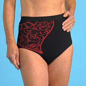 Magnet 3Pagen Zeštíhlující vysoké kalhotky, černo-červená červená-černá 36/38