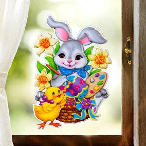 """Magnet 3Pagen Obrázek na okno """"Zajíc malířem"""""""