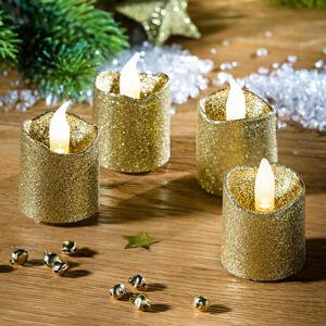 Magnet 3Pagen 4 LED zářící svíčky, zlatá
