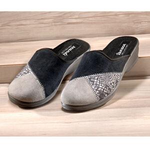 """Magnet 3Pagen Pantofle """"Marie"""" černá-šedá 36"""