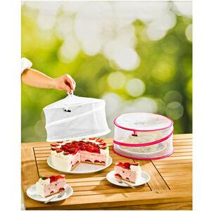 Magnet 3Pagen Ochranné poklopy na jídlo, bílá+fuchsie bílá-fuchsie