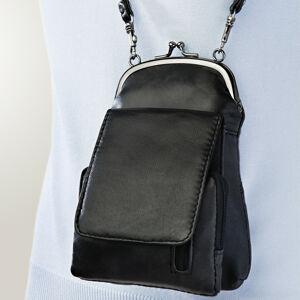 Magnet 3Pagen Kožená kabelka, černá