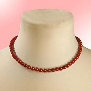 Magnet 3Pagen Achátový náhrdelník, červená délka 45cm