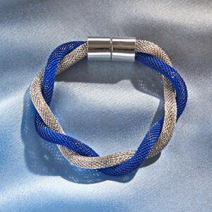 Magnet 3Pagen Náramek modrá-stříbrná délka 20cm