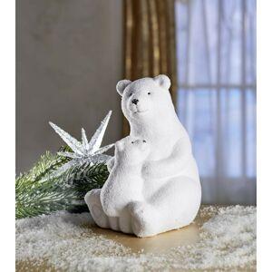 """Magnet 3Pagen Sedící lední medvěd """"Otec s medvídětem"""" sedící otec s medvídětem 10,5x11,5x15,5 cm"""