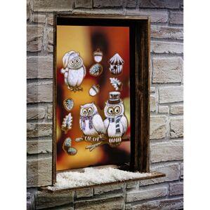 """Magnet 3Pagen 10 obrázků na okno """"Sněžné sovy"""""""