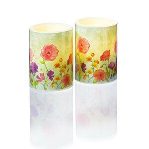 """Magnet 3Pagen LED svíčka """"Jarní kvítí"""""""