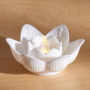 """Magnet 3Pagen LED svíčka """"Lotosový květ"""" bílá"""