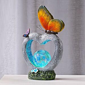 """Magnet 3Pagen Solární osvětlení """"Srdce s motýly"""""""