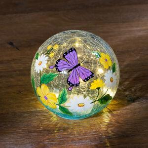 """Magnet 3Pagen LED skleněná koule """"Motýl"""""""