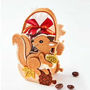 """Magnet 3Pagen 2 tašky """"Veverka"""" s arašídy v čokoládě a s čokoládovými šiškami"""