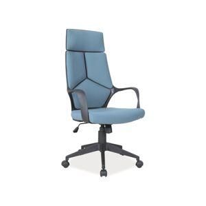 Kancelářská židle Q-199 modrá/ černý rám