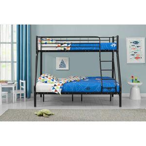 """Poschodová postel """"Jonas"""" černá 90 x 190 cm"""