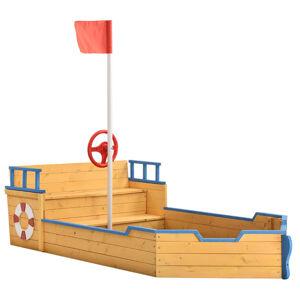 Pískoviště Kapitán Pit – pirátská loď ze dřeva